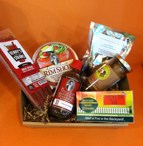 meat and candy gift box