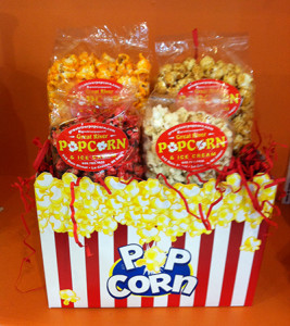 four flavor popcorn gift package