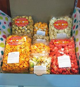 seven flavor popcorn gift box